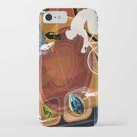cycling iPhone & iPod Cases featuring Cycling by Robin Curtiss