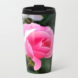 Pink Rose Metal Travel Mug