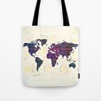 map Tote Bags featuring Map by famenxt