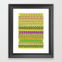 Yzor pattern 011 Yellow Things Framed Art Print