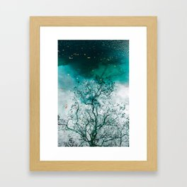 Reflections in a water Framed Art Print
