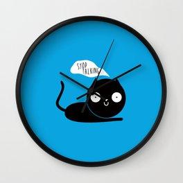 Stop Talking Wall Clock