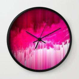 Frisson - Abstract Pixel Art Wall Clock
