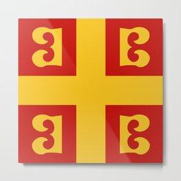 Byzantine Empire Flag, 14th Century  Metal Print