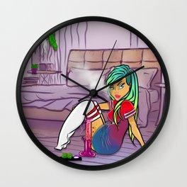 Purple Blazed, Smoking Lady Series Wall Clock