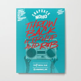 Snapback Noho Poster Metal Print
