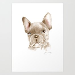 WATERCOLOR FRENCH BULLDOG / FRENCHIE Art Print