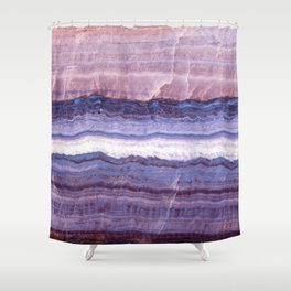 Azul marble Shower Curtain
