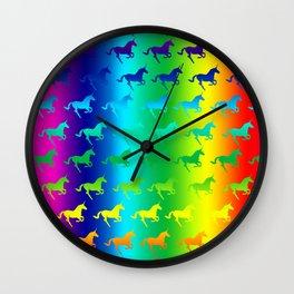 Psychedelic Unicorn Pattern Wall Clock