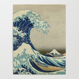 THE GREAT WAVE OFF KANAGAWA - KATSUSHIKA HOKUSAI Poster
