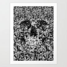 Naked Skull Art Print