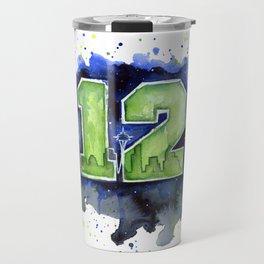 Seattle 12th Man Art Travel Mug