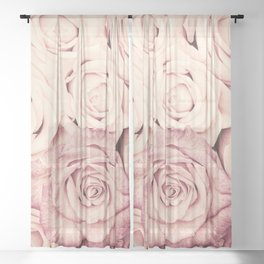 Some people grumble I Floral rose roses flowers pink Sheer Curtain