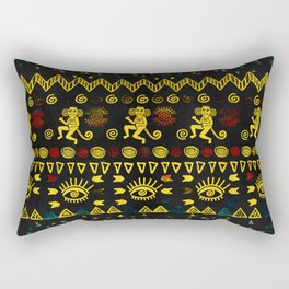 Aztec Symbols Pattern Rectangular Pillow