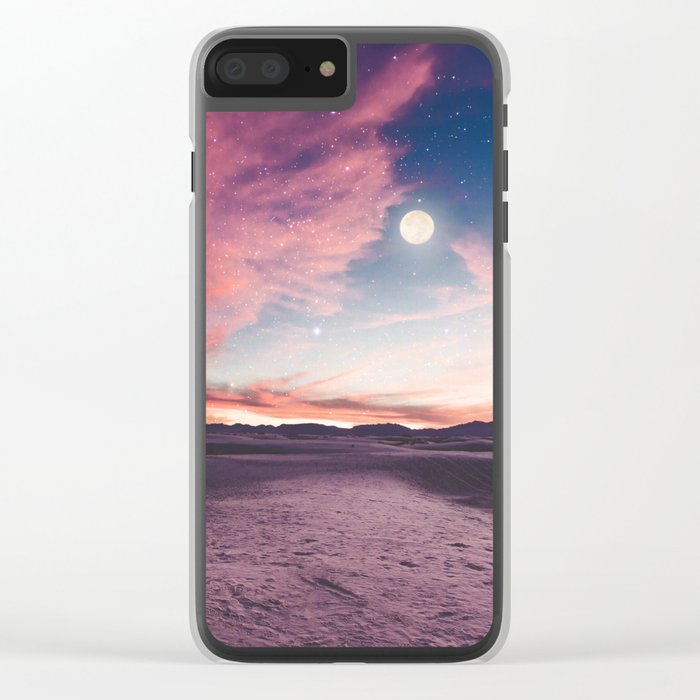 Moon gazing Clear iPhone Case
