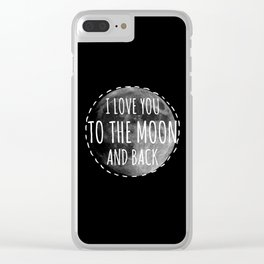 Love you to the moon Clear iPhone Case