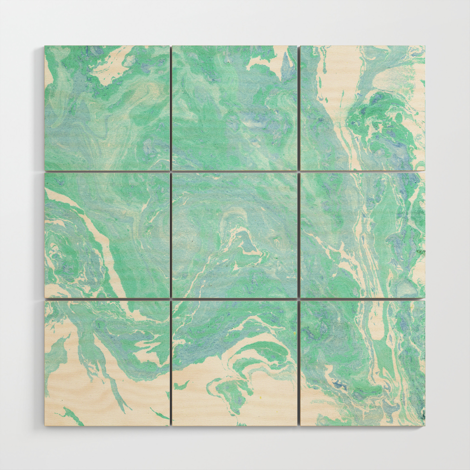 Marble Texture Background White Blue Green Marble Pattern Wood Wall Art By Fuzzyfox85 Society6