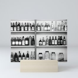 Liquor bottles Mini Art Print