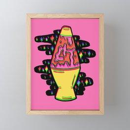 Lit Lava Lamp in pink in 3D Framed Mini Art Print