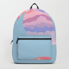 Planetary Deluge   Pastel Space-scape Backpack