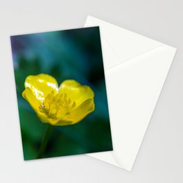 small yellow blossom Stationery Cards