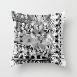 Colourless feathermal Throw Pillow