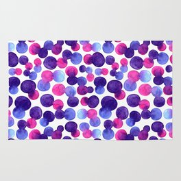 Brighr watercolor circles Rug