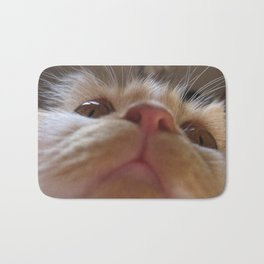 Funny Cute Cat Macro Eyes Bath Mat
