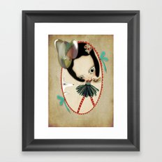 Once upon a time a doll Framed Art Print