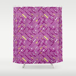 Urban purple Shower Curtain