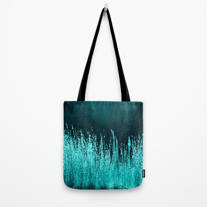 Grasses Aqua Tote Bag