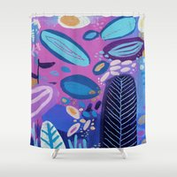 amy pond Shower Curtains featuring Pond by Milanesa