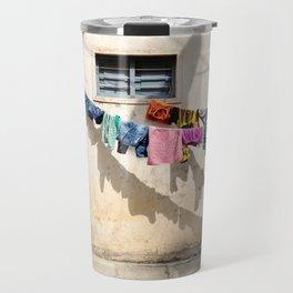 Still life on washing line Travel Mug