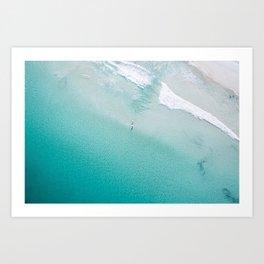 Leighton Beach Aerial Art Print