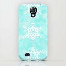 Snowflake Aqua Blue Galaxy S4 Slim Case