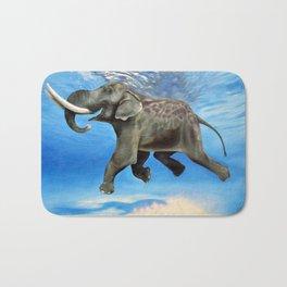 Rajan The Swimming Elephant Bath Mat