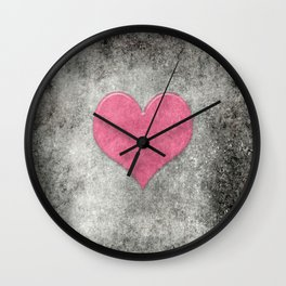 Grunge with heart Wall Clock