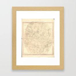 Burritt's Constellations (July, August, September) (1856) Framed Art Print