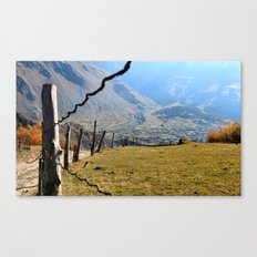Valley of River Sno Canvas Print