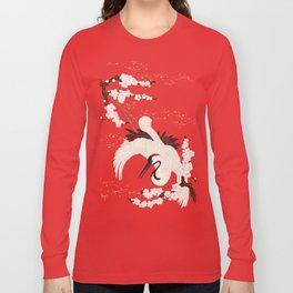 Japanese Crane Long Sleeve T-shirt
