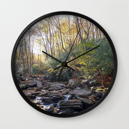 Boone Fork Creek in Autumn Wall Clock