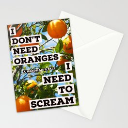 Oranges and Rage--A Handmaid's Tale Stationery Cards