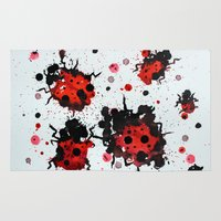 bugs Area & Throw Rugs featuring Splattered bugs by Condor