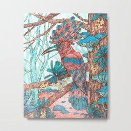 River Hoopoe Metal Print