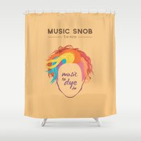paramore Shower Curtains featuring MORE Music to DYE for — Music Snob Tip #075.5 by Elizabeth Owens
