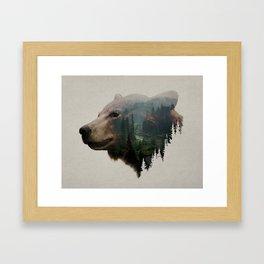 The Pacific Northwest Black Bear Framed Art Print