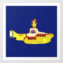 We all live in a yellow submarine Art Print