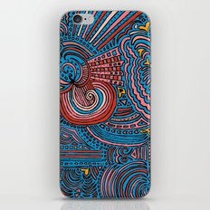 Drawing Meditation - Blue iPhone & iPod Skin