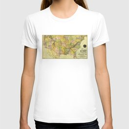 Map of the Shenandoah Valley Railroad Route (1890) T-shirt