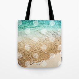 Virgin Islands / Polka Dots Tote Bag